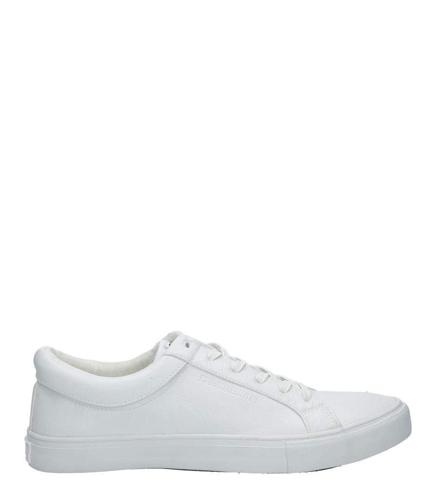 Białe trampki sznurowane Big Star AA174298