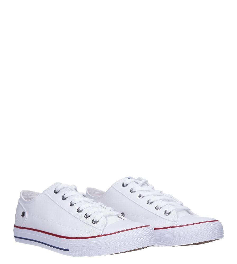 Białe trampki sznurowane Big Star DD174271 kolor biały