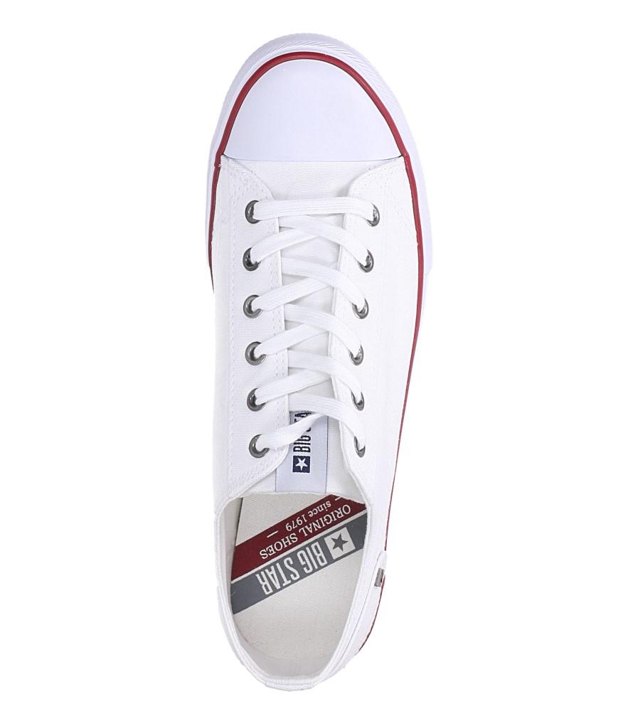 Białe trampki sznurowane Big Star DD174271 wys_calkowita_buta 12.5 cm