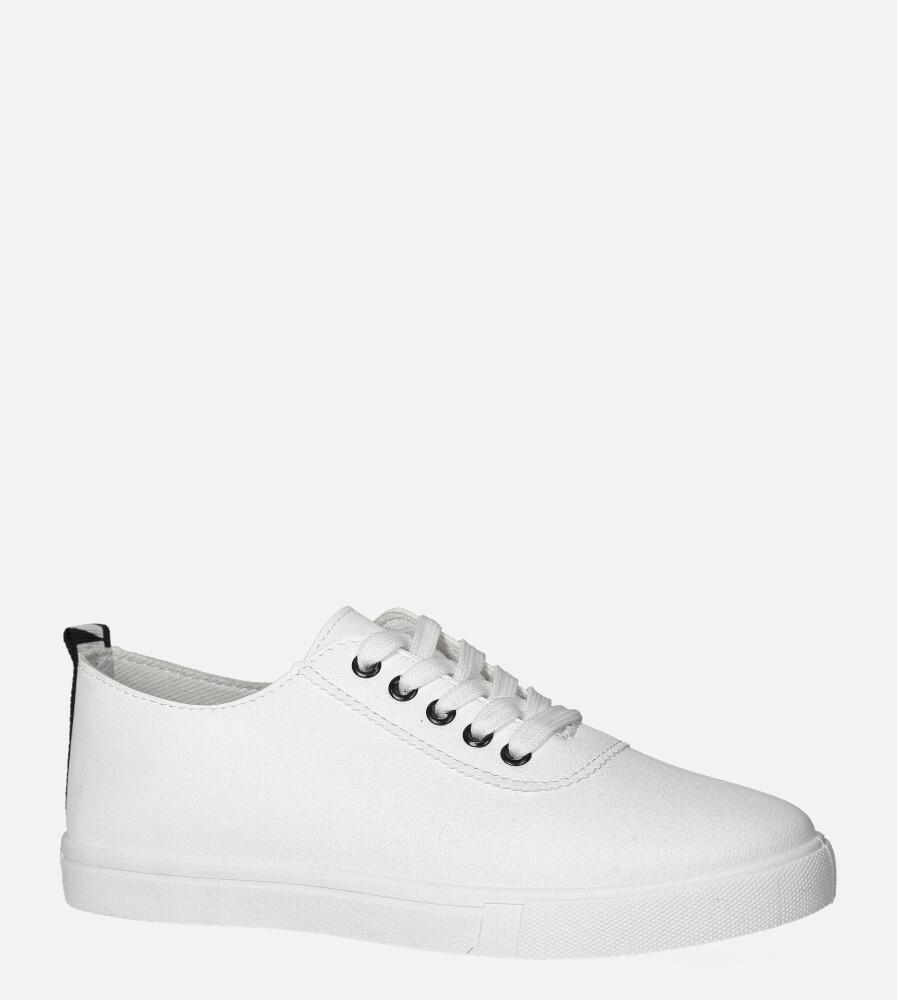Białe trampki sznurowane Casu 20N3/W biały