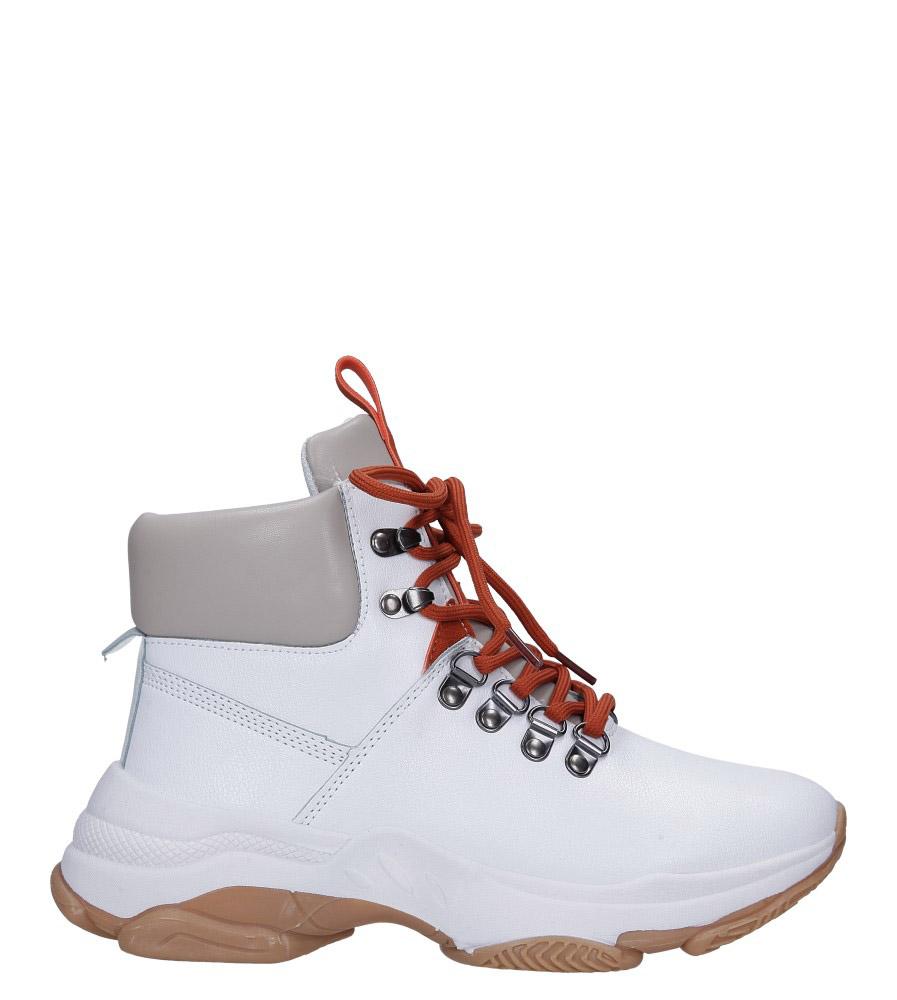 Białe trzewiki sznurowane Casu DS13001 wys_calkowita_buta 18 cm