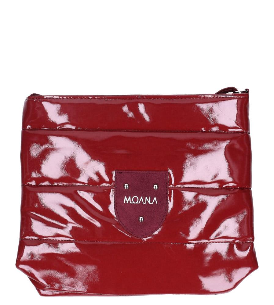Bordowa torebka listonoszka lakierowana pikowana Casu 912