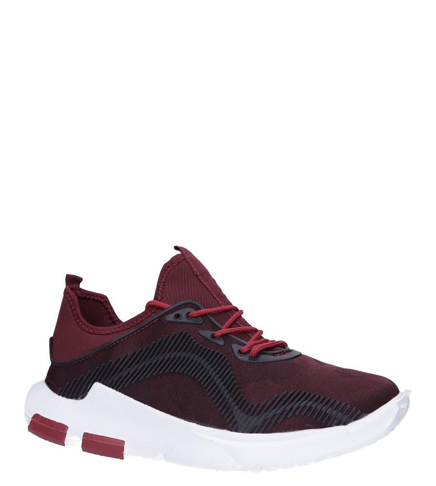 Bordowe buty sportowe sznurowane Casu LF21-4 producent Casu