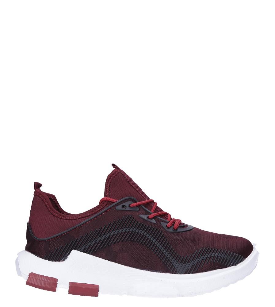 Bordowe buty sportowe sznurowane Casu LF21-4