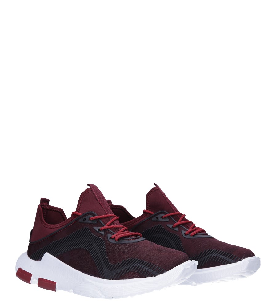Bordowe buty sportowe sznurowane Casu LF21-4 kolor bordowy