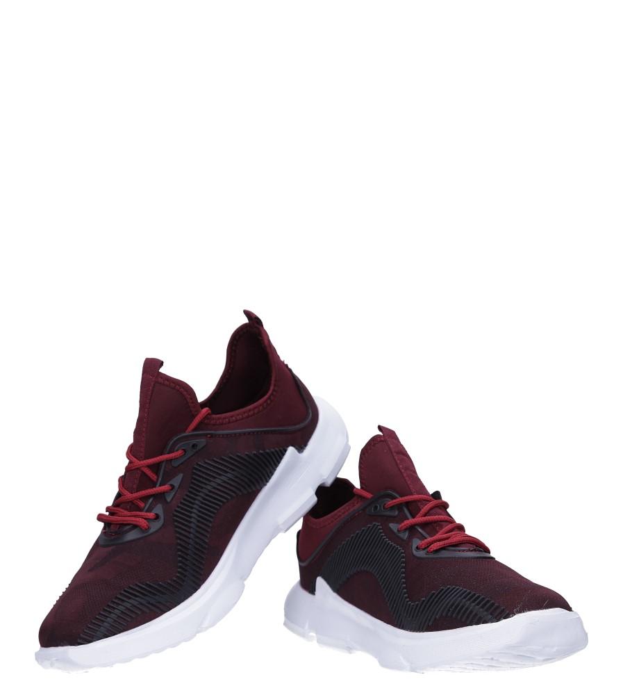 Bordowe buty sportowe sznurowane Casu LF21-4 wysokosc_platformy 2 cm