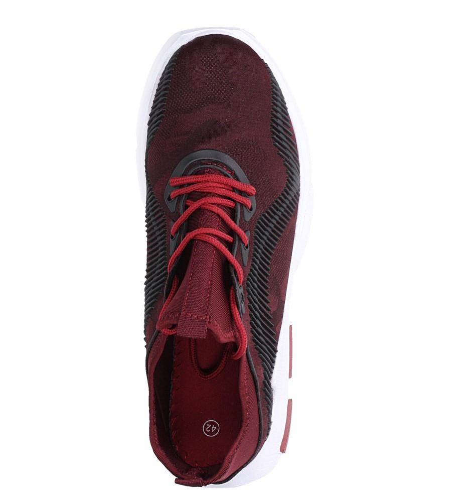 Bordowe buty sportowe sznurowane Casu LF21-4 wys_calkowita_buta 13 cm