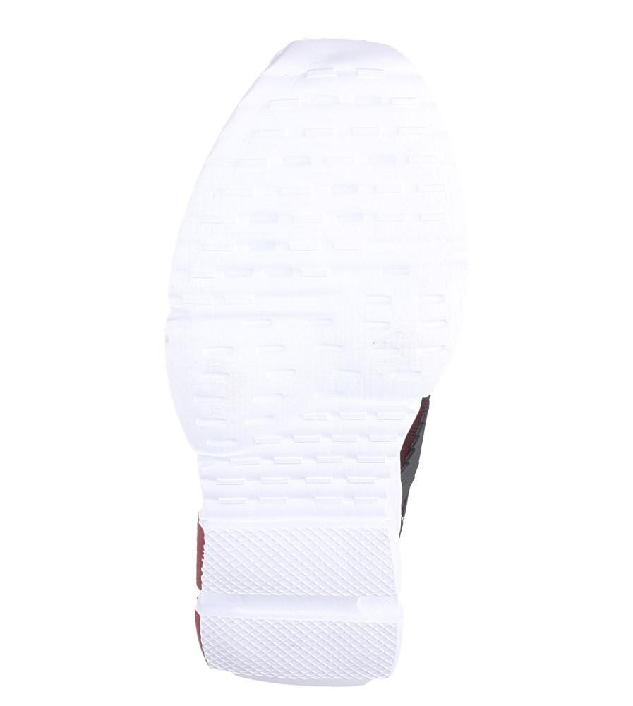 Bordowe buty sportowe sznurowane Casu LF21-4 wierzch materiał/skóra ekologiczna