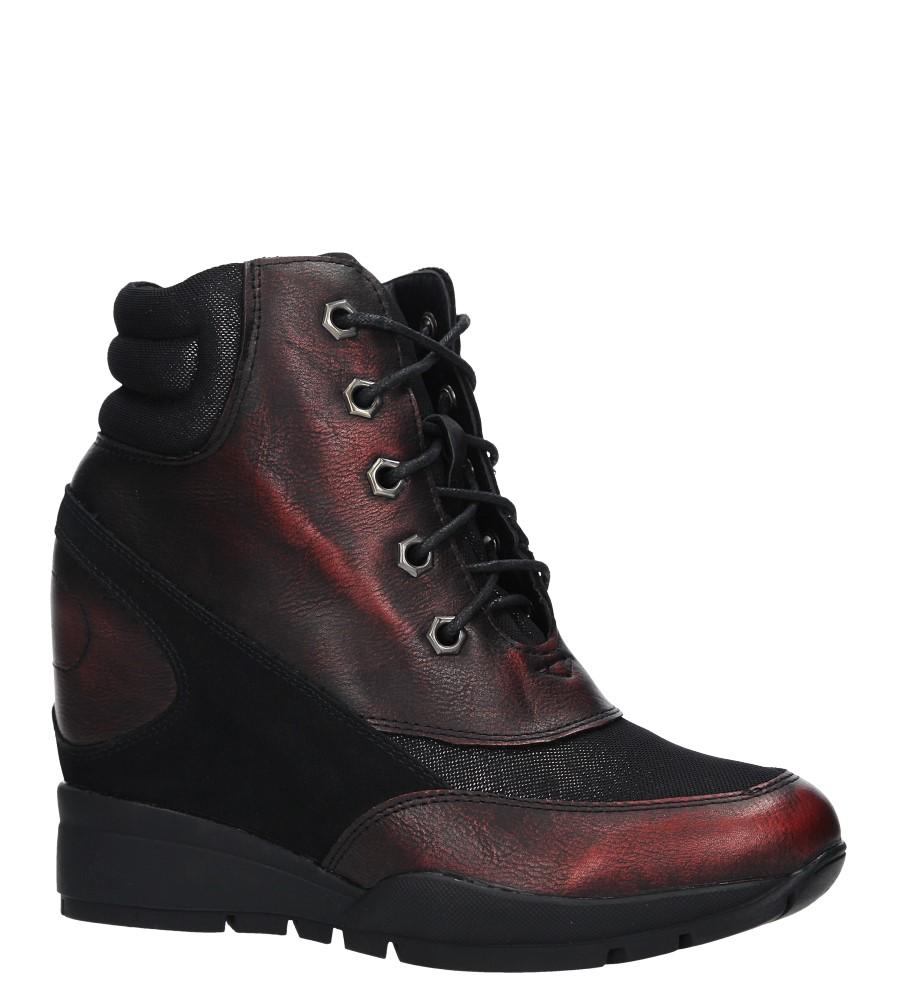 Bordowe sneakersy sznurowane Sergio Leone 27132