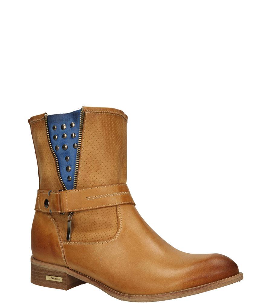 Damskie BOTKI CARINII B2108-521-7 brązowy;niebieski;