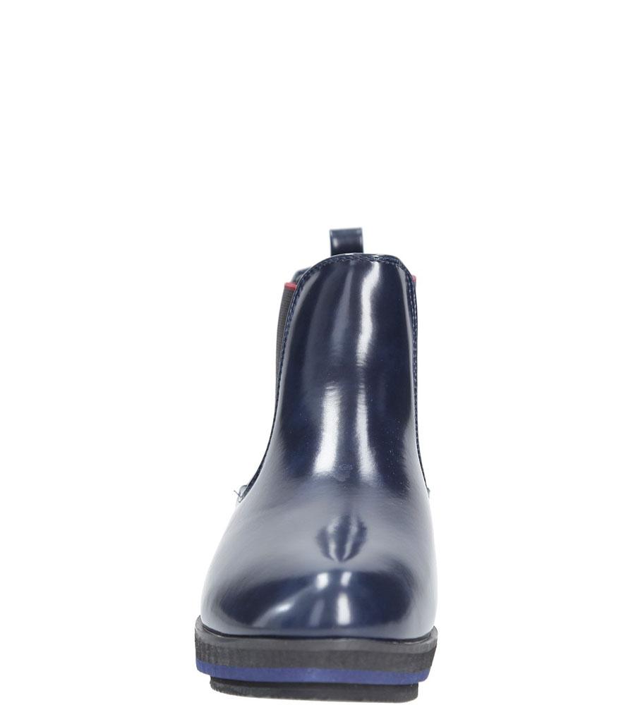 Botki Casu A630-2 kolor granatowy