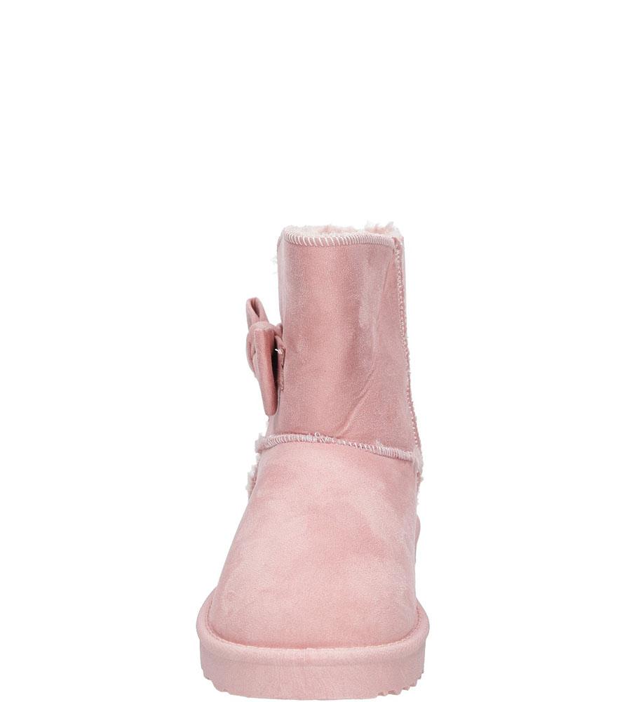 Botki emu z kokardą Jezzi 7BT26-0089 kolor różowy