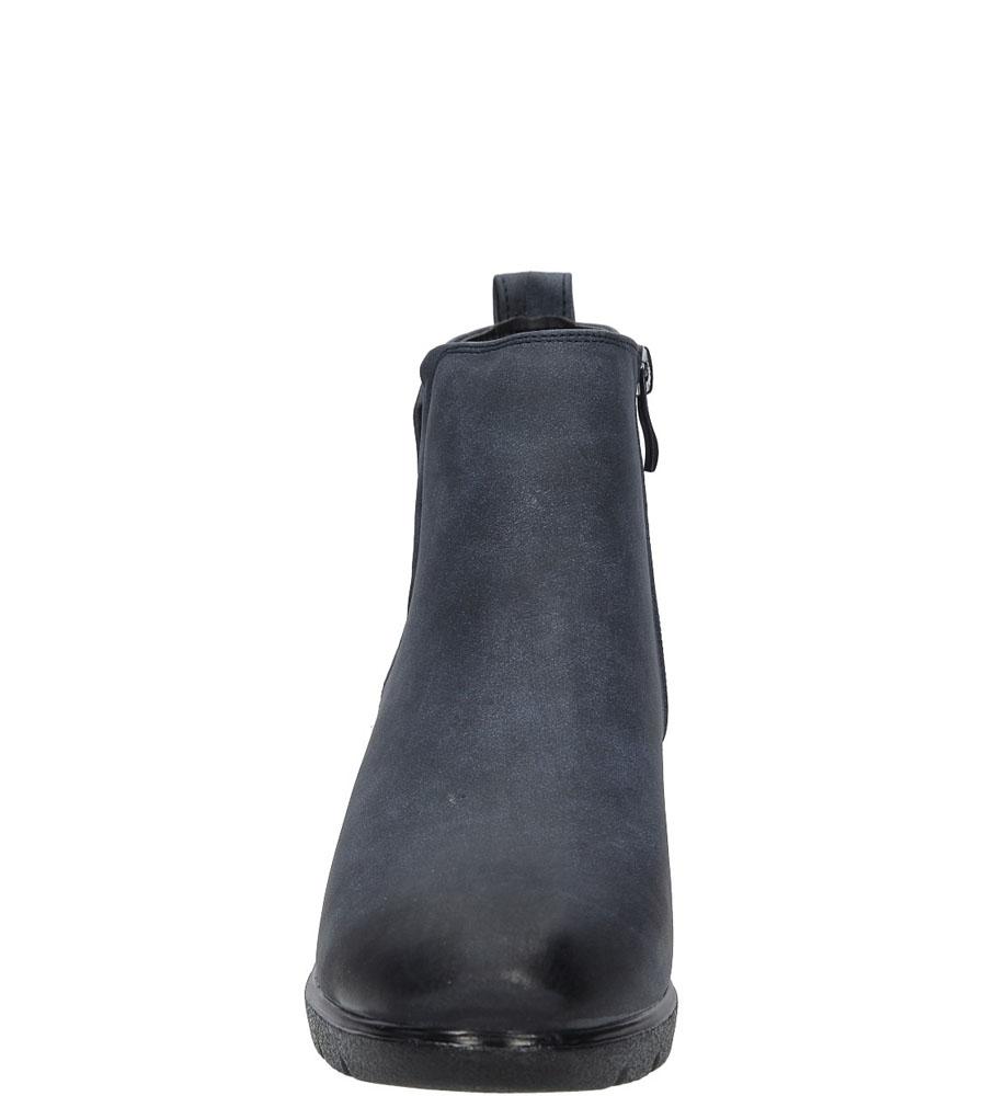 Botki na koturnie Jezzi MR1710-3 kolor ciemny niebieski