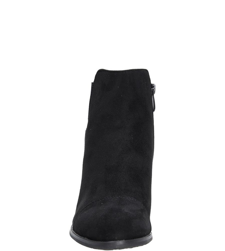 Botki na słupku Casu 7-P7832 kolor czarny