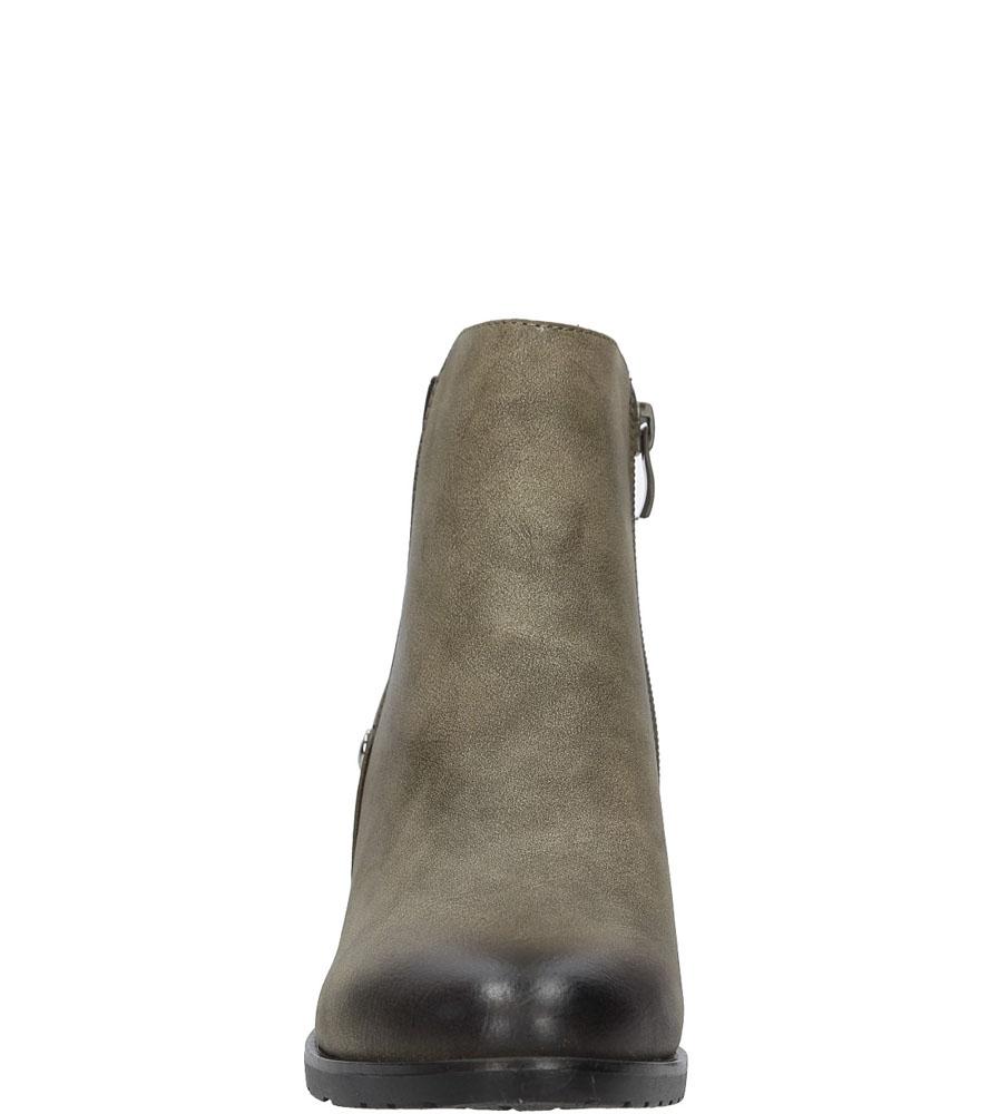 Botki na słupku Jezzi SA91-3 kolor ciemny beżowy