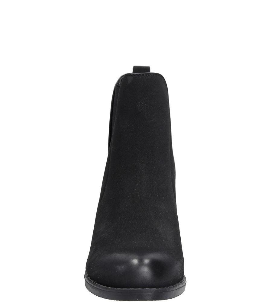 Botki na słupku Sergio Leone BT0511 kolor czarny