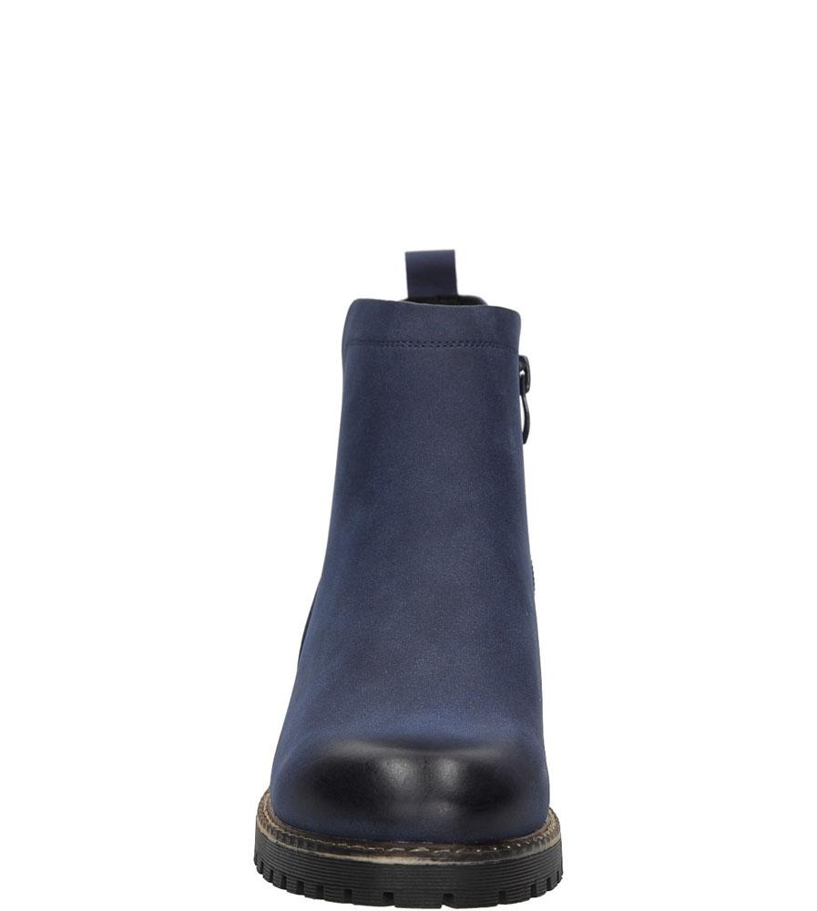 Botki na słupku Sergio Leone TR0700 kolor granatowy