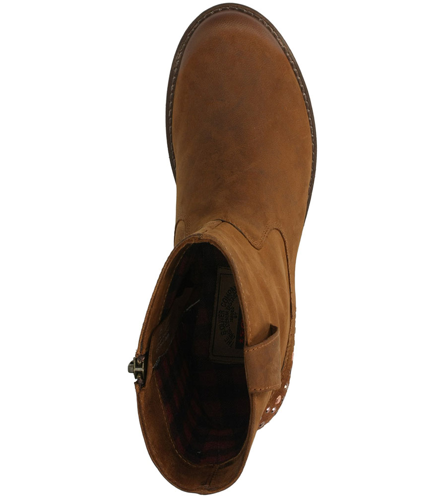 BOTKI S.OLIVER 5-25426-21 kolor brązowy