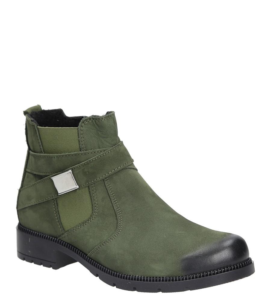 Damskie Botki skórzane Casu 289/C zielony;;