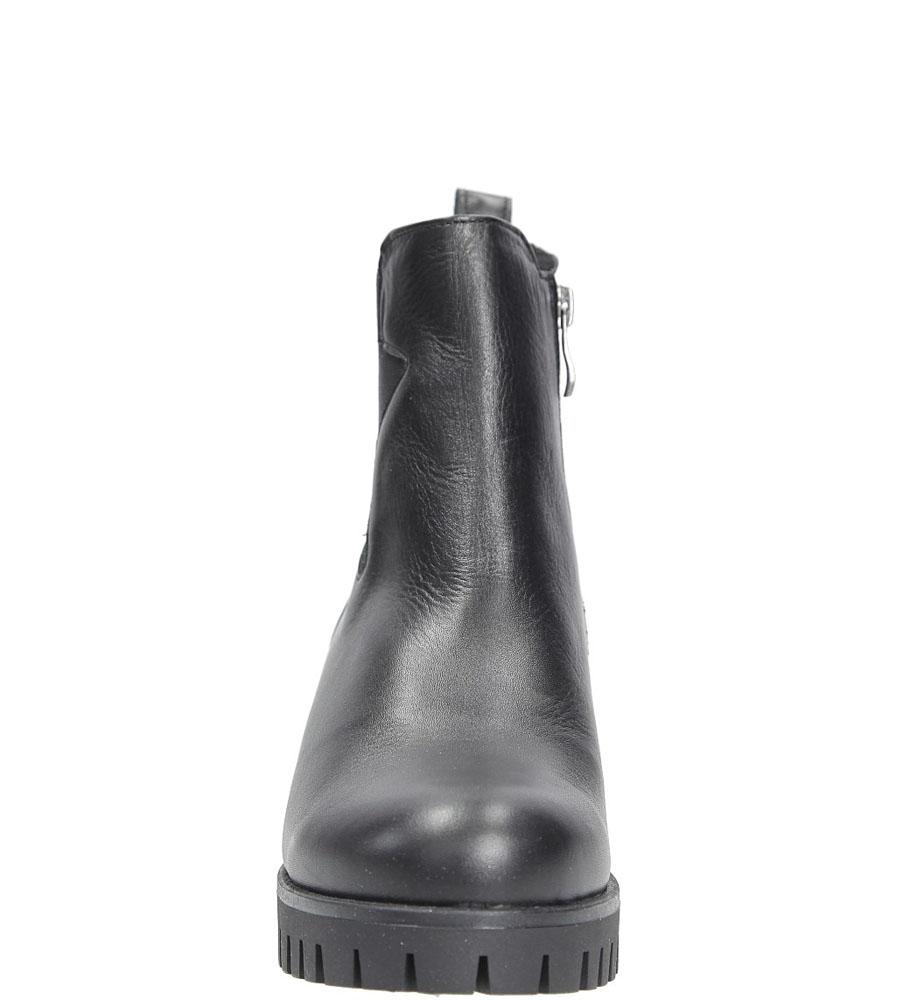 Botki skórzane z z gwiazdą Karino 2388/076-F kolor czarny