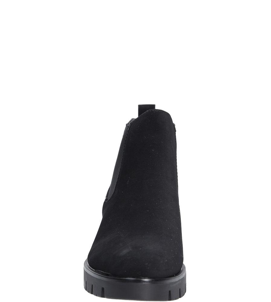 Botki wsuwane Casu 7-X7927A kolor czarny