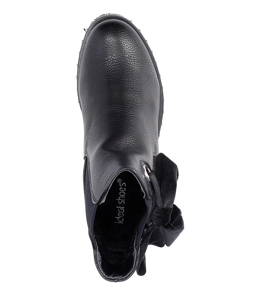 Botki z kokardą Casu E4913 kolor czarny