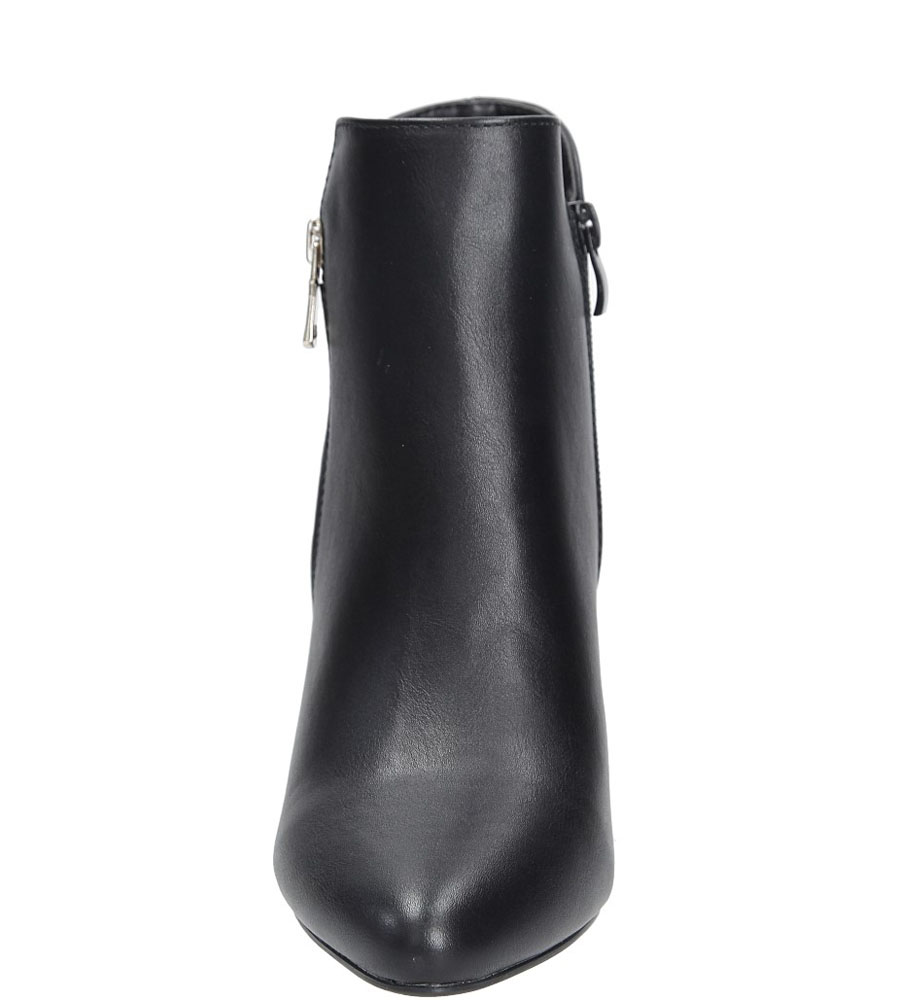 Botki z ozdobnym suwakiem Sergio Leone BT0502 kolor czarny