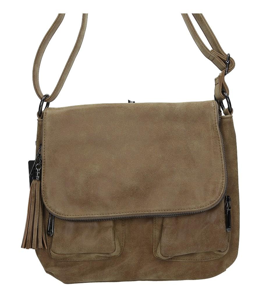 Brązowa torebka listonoszka z kieszonkami Casu J5647