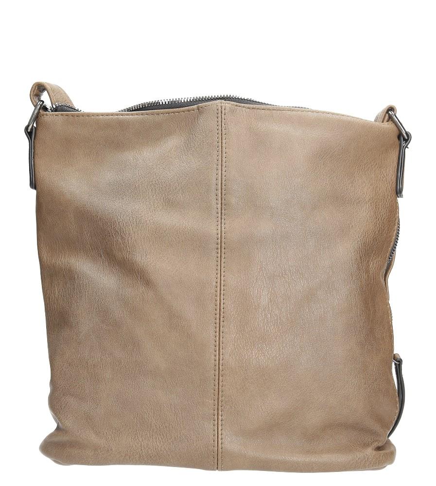 Brązowa torebka listonoszka z metalową ozdobą Casu 7719