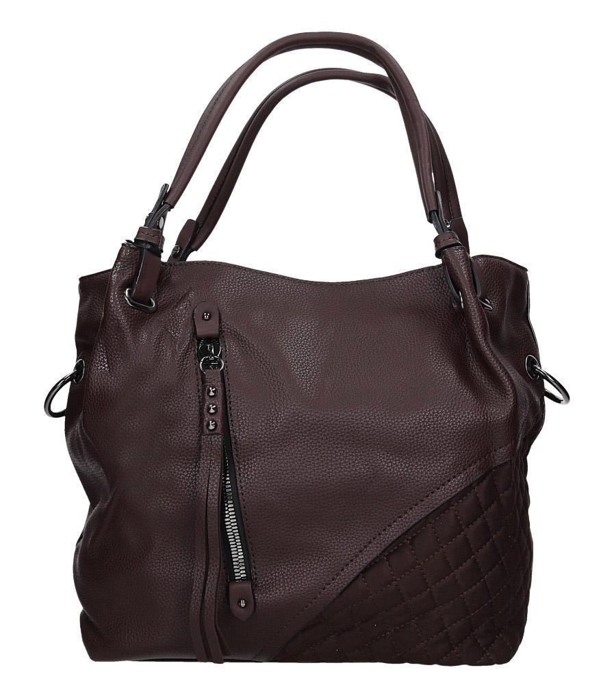 Brązowa torebka pikowana z ozdobnym suwakiem Casu 2683