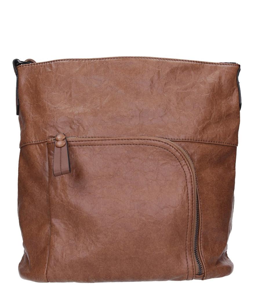 Brązowa torebka z kieszonką z przodu Casu 3845-BB