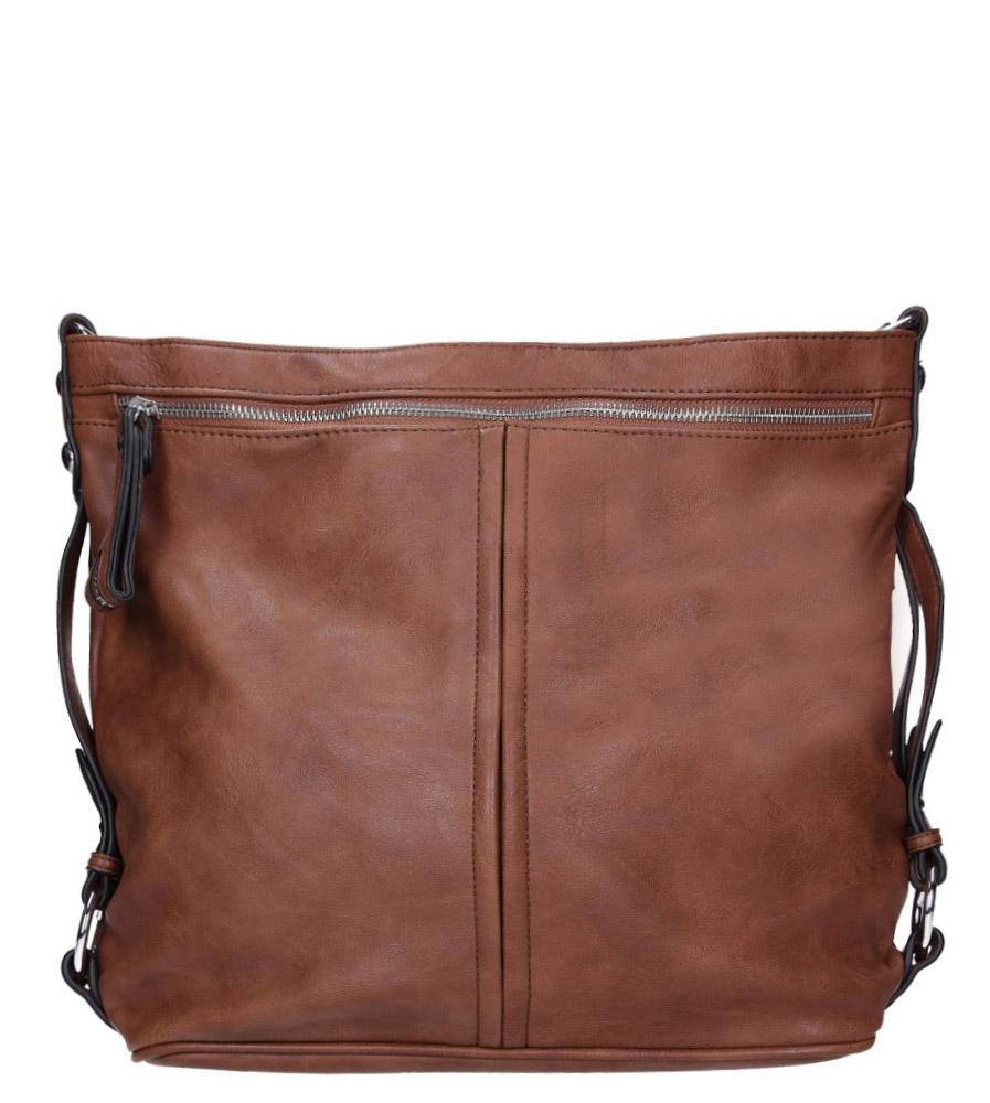 Brązowa torebka z kieszonką z przodu Casu 74-MH