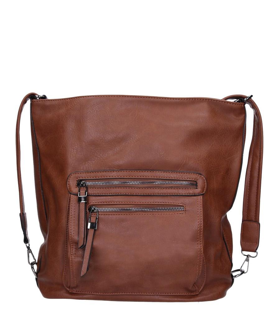 Brązowa torebka z kieszonką z przodu Casu AG-23