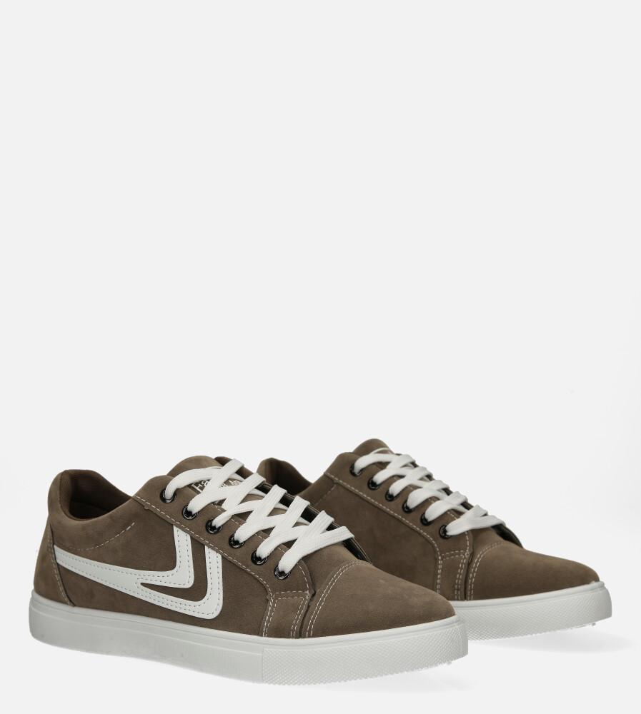 Brązowe buty sportowe sznurowane Casu A-22 kolor brązowy