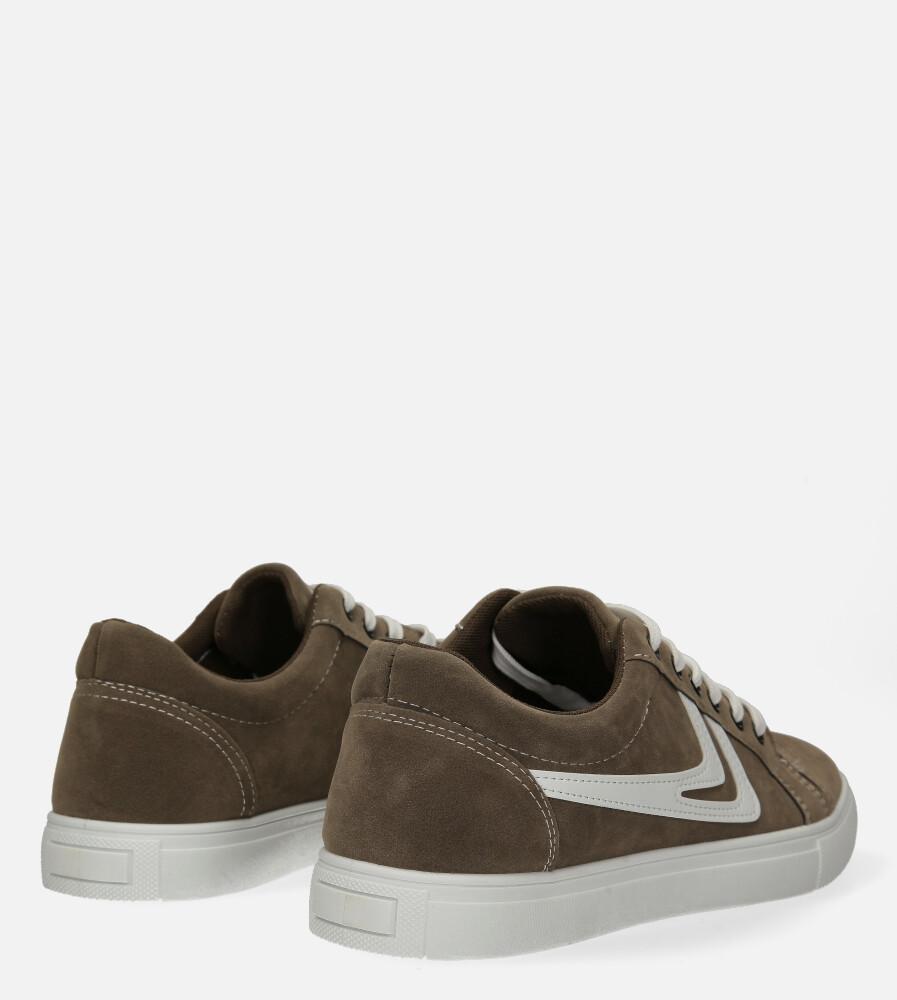 Brązowe buty sportowe sznurowane Casu A-22 wysokosc_platformy 2.5 cm