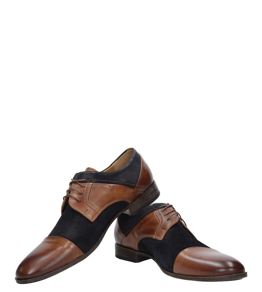 Brązowe buty wizytowe skórzane sznurowane brąz palony DUO MEN 00740E-02-B-P-010