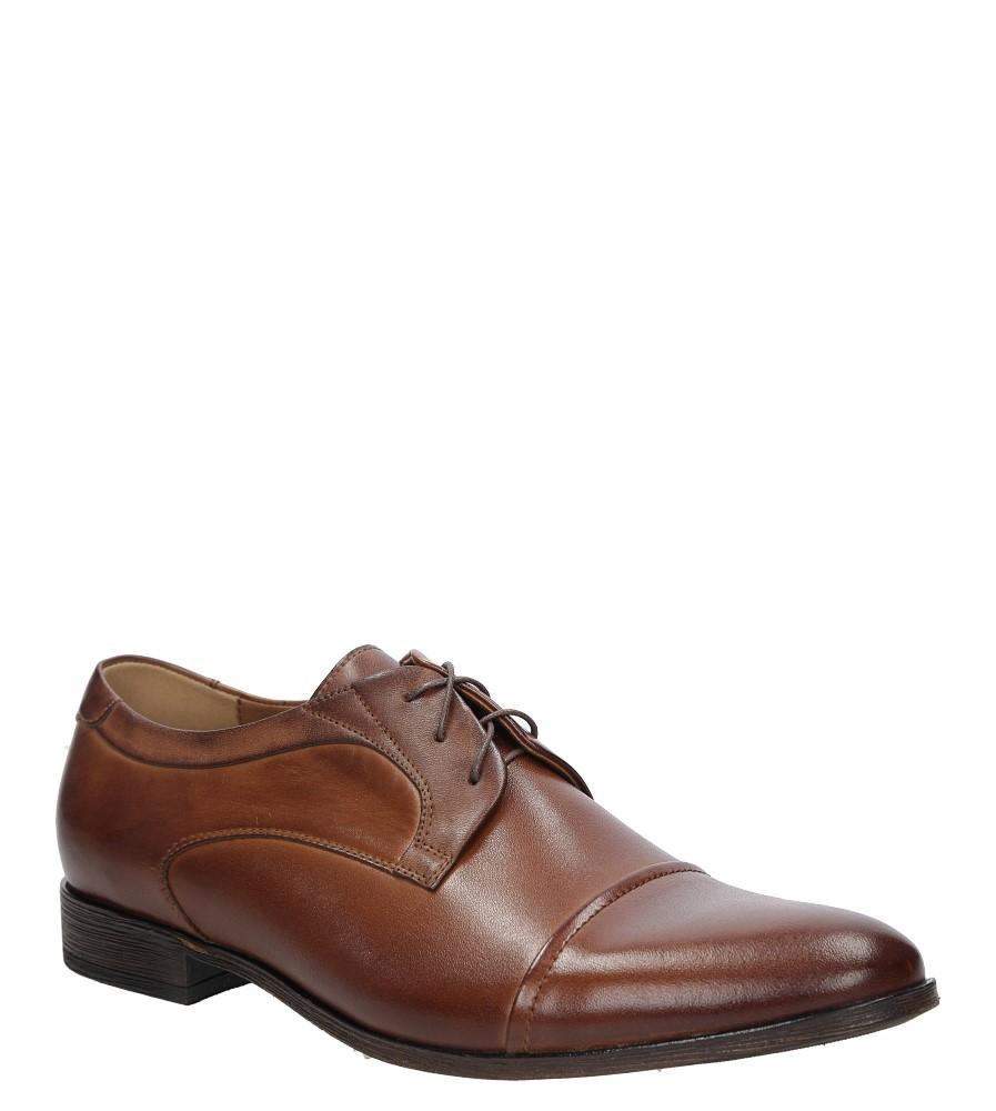 Brązowe buty wizytowe skórzane sznurowane brąz palony DUO MEN 01730E-02-L-P-010