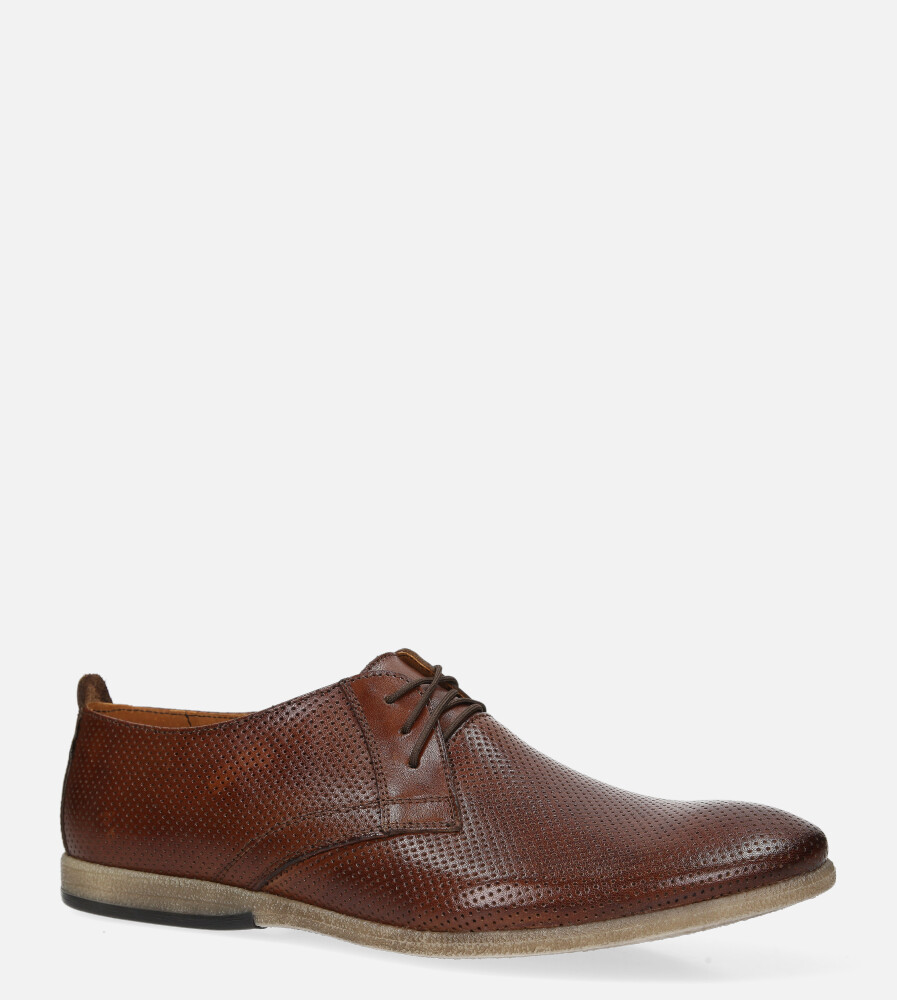 Brązowe buty wizytowe skórzane sznurowane Windssor 530/K6 brązowy