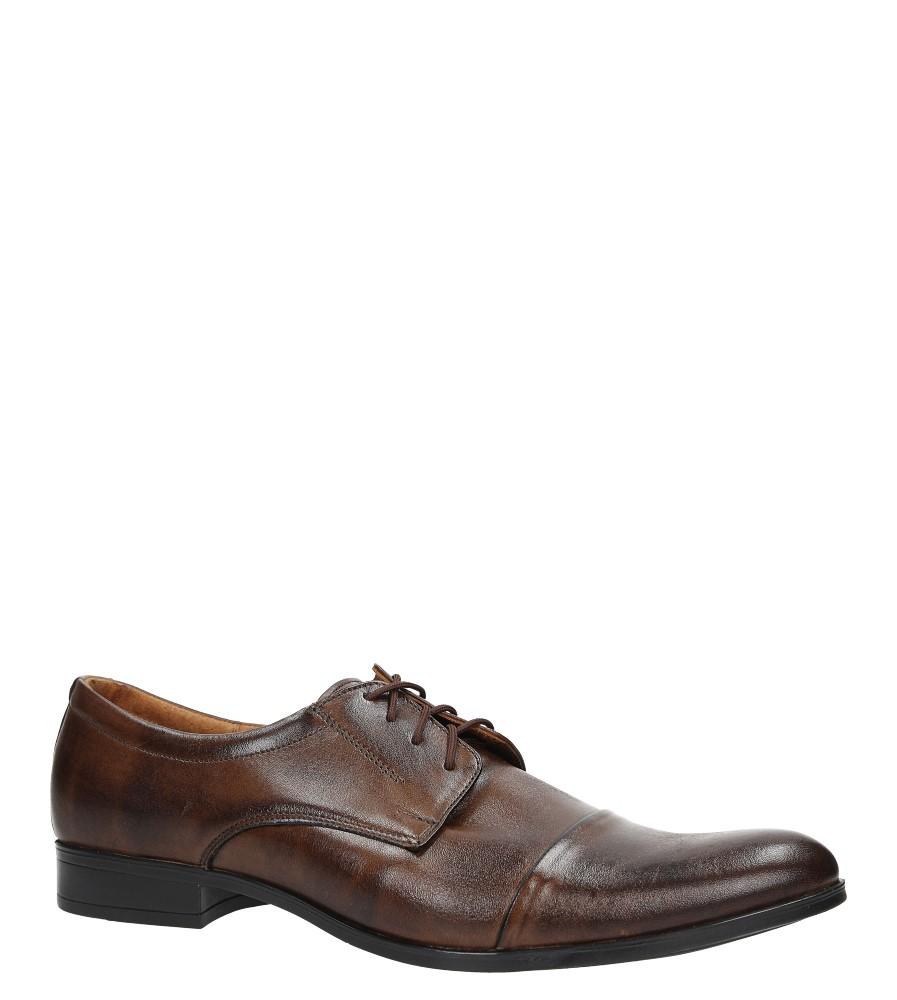 Brązowe buty wizytowe skórzane sznurowane Windssor 632
