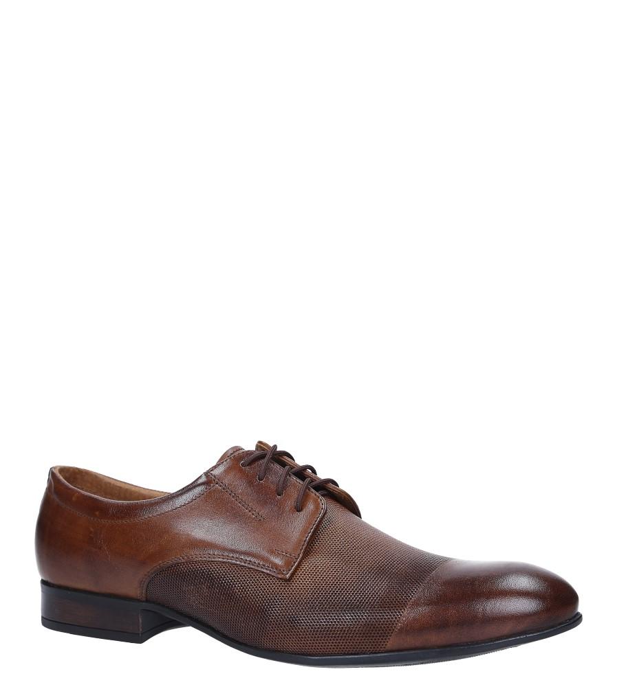 Brązowe buty wizytowe skórzane sznurowane Windssor 650/MR