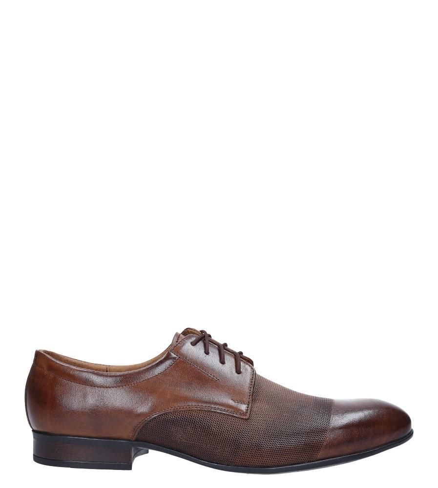 Brązowe buty wizytowe skórzane sznurowane Windssor 650/MR brązowy