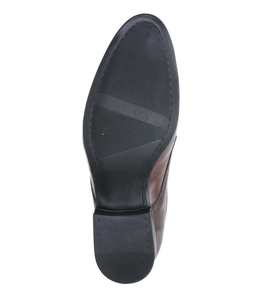 e2842b69b2d8c Buty Brązowe buty wizytowe skórzane sznurowane Windssor 652/MR - Sklep  Casu.pl