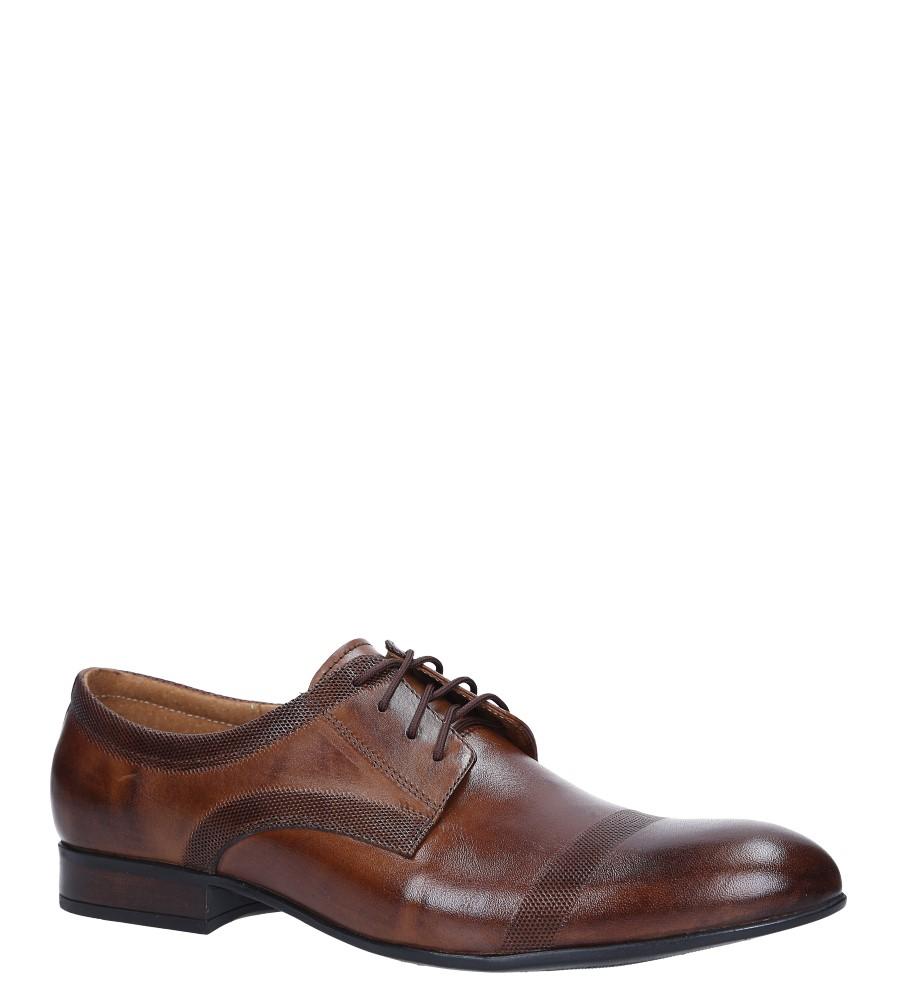 af0c036faff59 Brązowe buty wizytowe skórzane sznurowane Windssor 652/MR producent Windssor