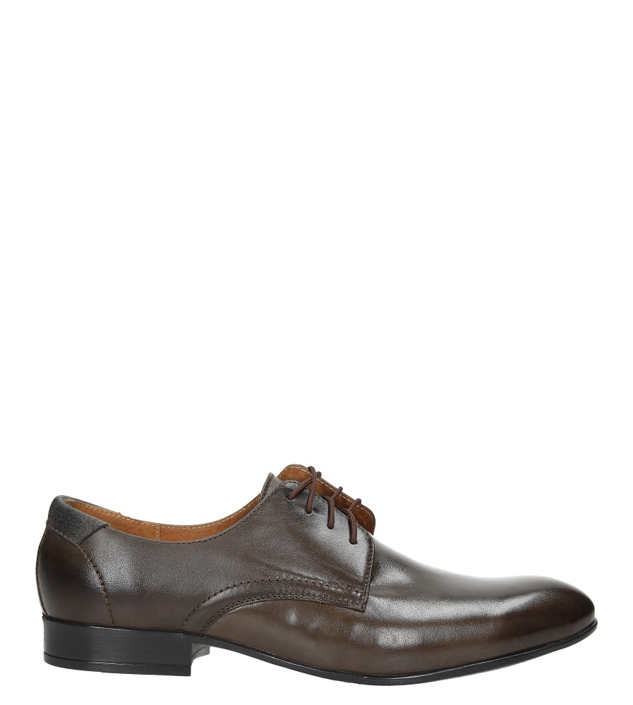 Brązowe buty wizytowe skórzane sznurowane Windssor 653
