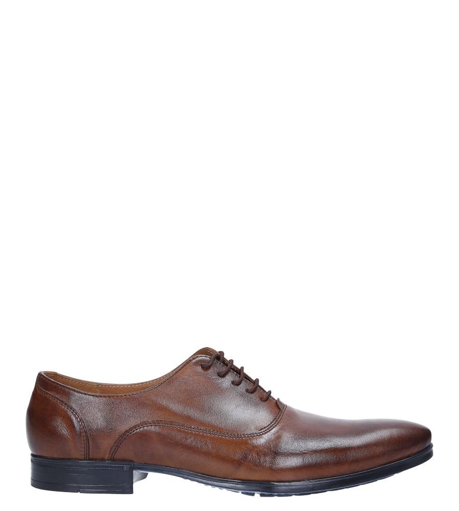 Brązowe buty wizytowe skórzane sznurowane Windssor 660