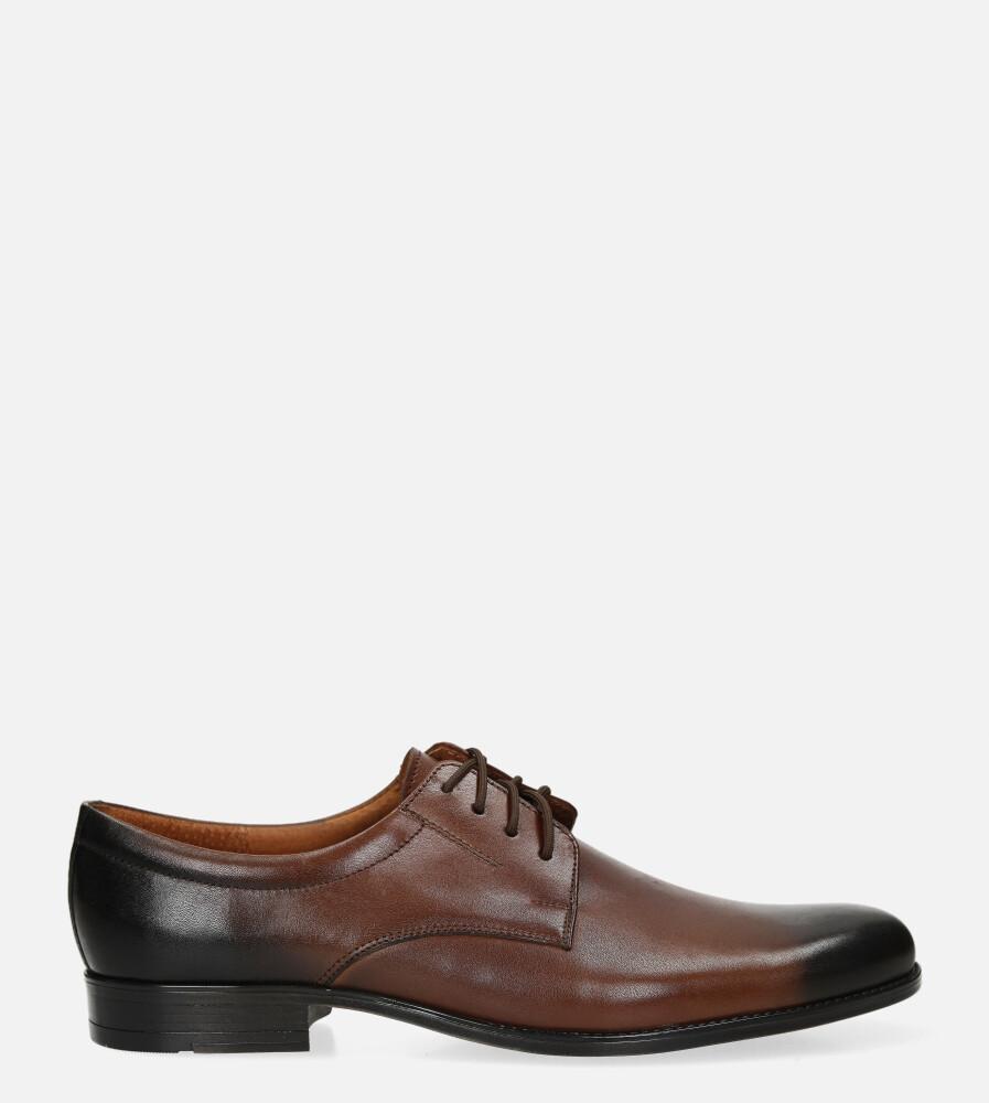 Brązowe buty wizytowe skórzane sznurowane Windssor 830