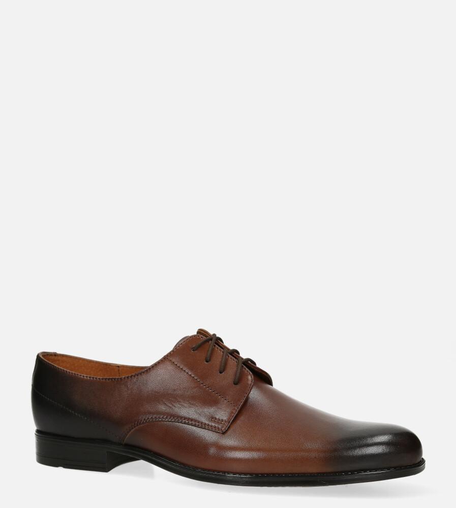 Brązowe buty wizytowe skórzane sznurowane Windssor 831 brązowy