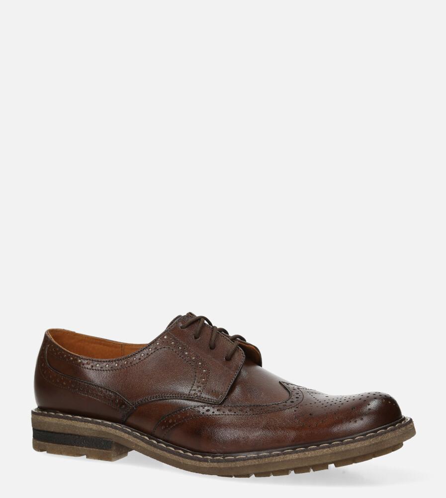 Brązowe buty wizytowe skórzane sznurowane Windssor BR-5 brązowy