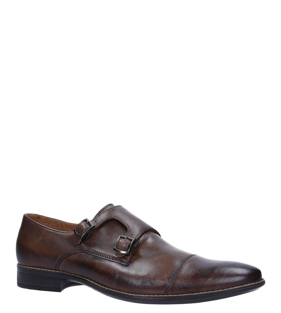 Brązowe buty wizytowe skórzane z klamerkami Windssor 665