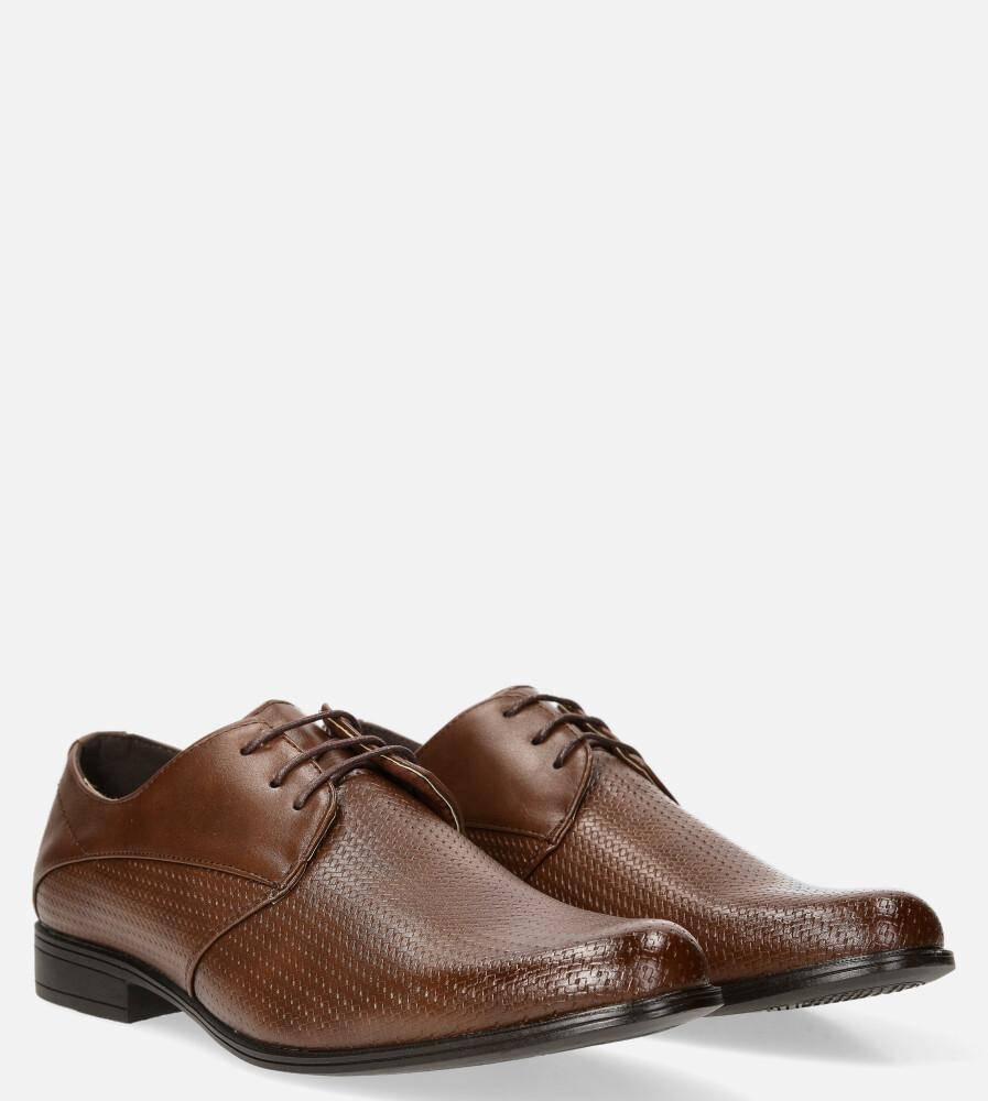 Brązowe buty wizytowe sznurowane Casu MXC425